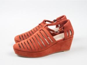 wedge-sandle-Riley-Brick-Red